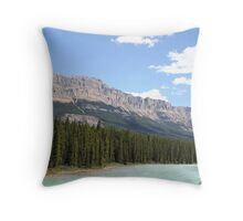 Bow River in Banff National Park, Alberta, Canada Throw Pillow