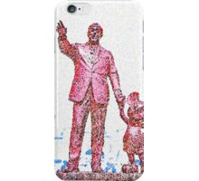 Mickey Mouse and Walt Disney iphone Case or Skin Statue in Disneyland Red Pointillism iPhone Case/Skin