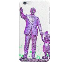 Mickey Mouse and Walt Disney iphone Case or Skin Statue in Disneyland Purple Pointillism iPhone Case/Skin