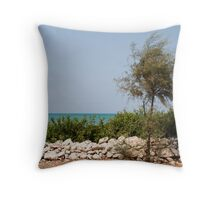 Puglia Coastal Scenery  Throw Pillow
