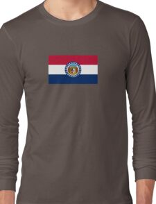 Missouri USA State Flag Bedspread T-Shirt Sticker Long Sleeve T-Shirt