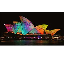 Vivid Light Festival Sydney 2014 kicks off Photographic Print
