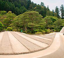 Ginkakuji Temple Gardens  by jojobob