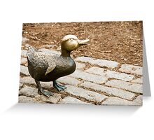 Little Bronze Duck Greeting Card