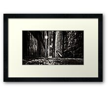Down A Dark Close Framed Print