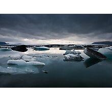 Glacier Lagoon August 2009 #2b Photographic Print