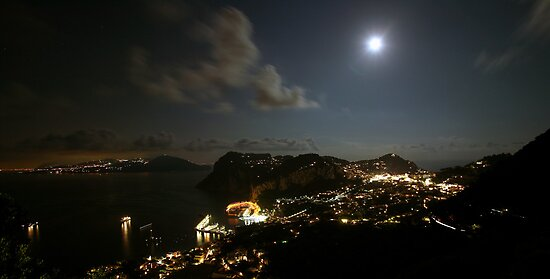 Capri by Moonlight by Neil Buchan-Grant