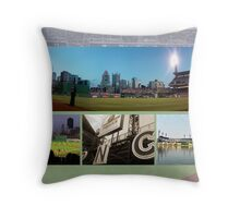 Pittsburgh, PA: PNC Park Collage Throw Pillow
