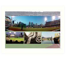 Pittsburgh, PA: PNC Park Collage Art Print