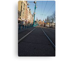 On the Rail Canvas Print