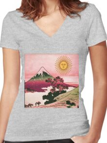 nights in japan Women's Fitted V-Neck T-Shirt