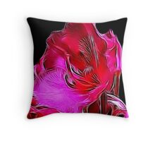 Fractual Bloom Throw Pillow