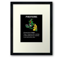 Phombie - Mobile Phone Zombie Framed Print