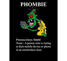 Phombie - Mobile Phone Zombie Photographic Print