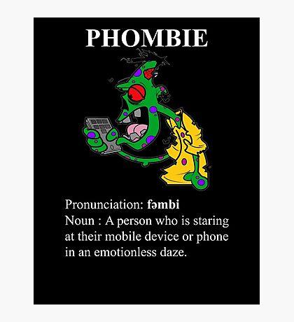 Phombie - Mobile Phone Zombie Photographic Print