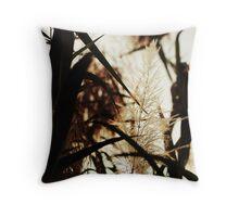 Grassflower Days Throw Pillow