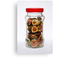 Dried Figs In Jar   Canvas Print