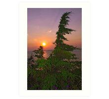 Sunset on Lake Ontario Art Print
