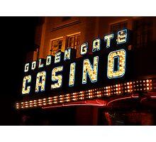 Golden Gate Casino, Las Vegas Photographic Print