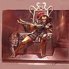 I, King - Cover Art by David Sourwine