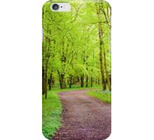 Footpath in green forest iPhone Case/Skin