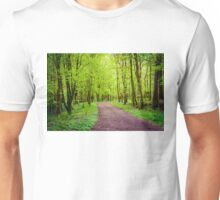 Footpath in green forest Unisex T-Shirt