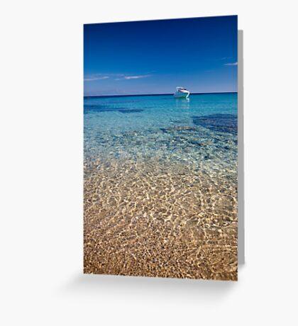 Mykonos beach Greeting Card