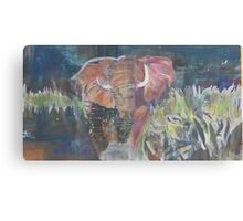 (Elephant) Charging Canvas Print