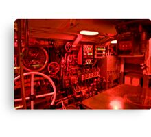 Control room of a WWII era submarine  Canvas Print