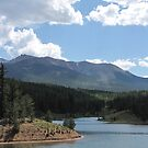 Pikes Peak at Catamount Reservoir (Colorado) by janetmarston