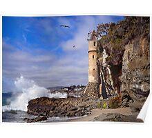 Victoria Beach Turret Poster
