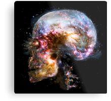 Skull Space Metal Print