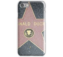 Donald Duck's Star on the Walk of Fame iPhone Case/Skin