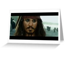 Jack Sparrow Greeting Card