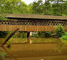 Reflections of a Covered Bridge by Janie Oliver