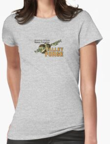 Valley Forge Space Freighter - front Womens Fitted T-Shirt