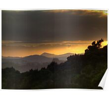 Hazy winter sunrise........ Poster