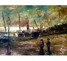Old Steamers  in Port  Photographic Print