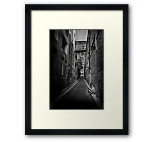 Down and Alone Framed Print