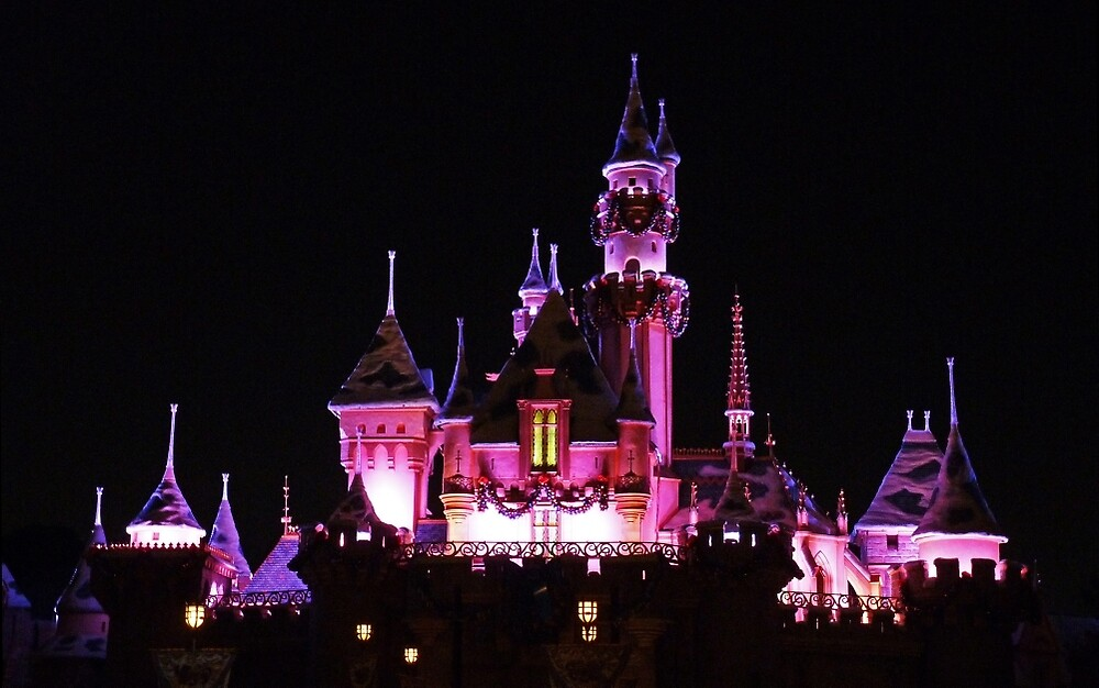 Disney Castle at Night by DarthIndy