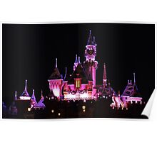 Disney Castle at Night Poster