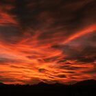 Criss Cross sky- sunset in AZ by johntbell