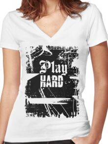 Play Hard ll t shirt Women's Fitted V-Neck T-Shirt