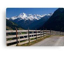 Alpine Fence Canvas Print