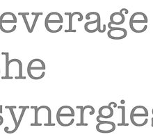 leverage the synergies luxury edition by doctornick