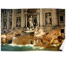 The Trevi Fountain in Rome, Italy Poster