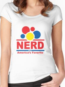 nerd alert white  Women's Fitted Scoop T-Shirt