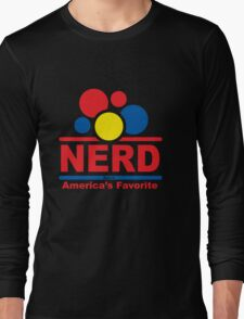 nerd alert white  Long Sleeve T-Shirt