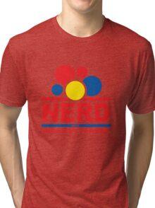 nerd alert white  Tri-blend T-Shirt