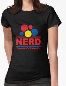 nerd alert white  Womens Fitted T-Shirt